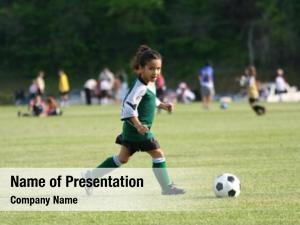 Playing young girl soccer league