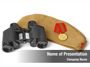 Soldiers soviet army forage cap binoculars
