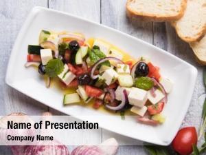 Feta greek salad cheese cubes