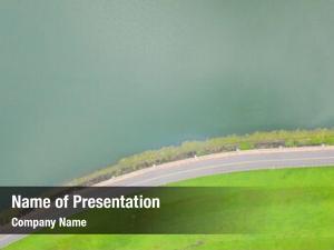 Road abstract landscape grassland near