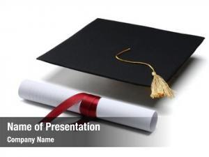 Cap diploma graduation white