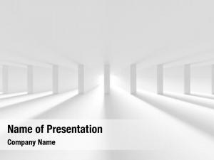 Hall white column design