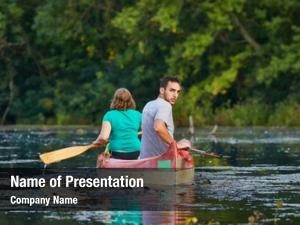 Natural canoeing beautiful environment