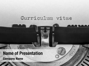 Typed curriculum vitae vintage typewriter