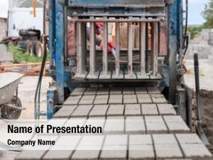 Producing bricks machine raw cement