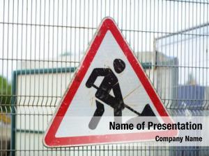 Sign, road work under construction,