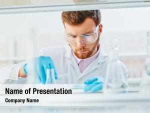Doing lab technician experiment lab