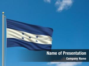 Honduras flag flag flag pole