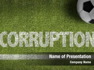 Text: soccer field corruption