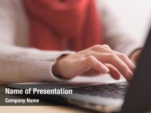 Online employee working