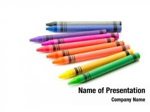 Crayons colorful spectrum white
