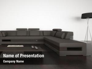 Room modern living brown sofa