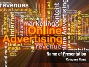 Wordcloud background concept online advertising