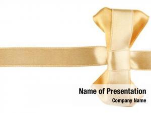 Golden golden ribbon bow white