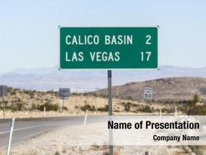 Nevada las vegas road sign