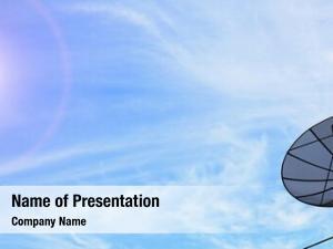 Communication conceptual antenna satellite dish