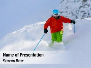 Freeride skiing, skier, fresh powder