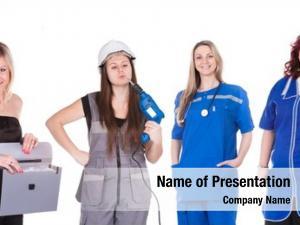 Different women, representatives professions