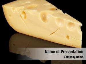 Swiss piece ripened cheese black