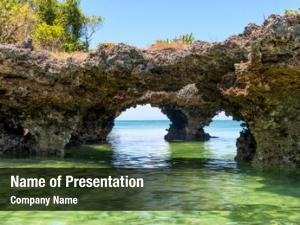 Ocean landscape rocks zanzibar ocean