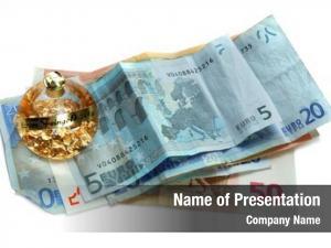 Bulb money glass golden pieces,