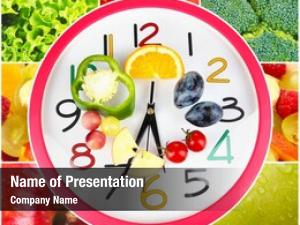 Vegetables food clock fruits