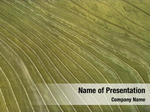Agricultural aerial cultivated field