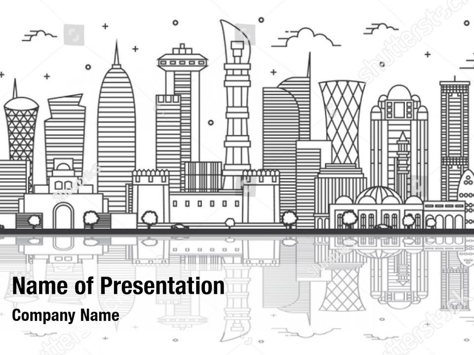 Qatar White Powerpoint Template Qatar White Powerpoint Background