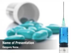 Pill blue pills bottle white