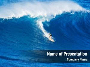 Riding extreme surfer giant wave