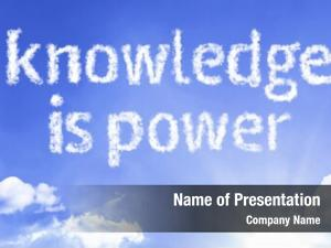 Cloud knowledge power word blue