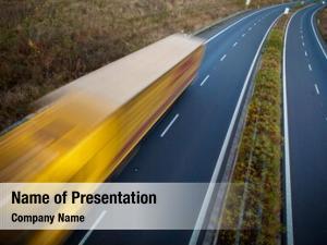 Motion highway traffic blurred truck