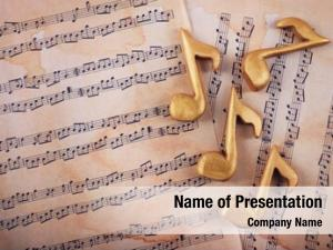 Notes golden music music sheets