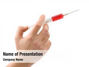 White syringe hand,
