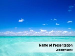 Under tropical sea blue sky