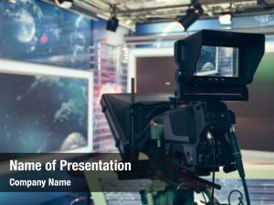 Camera television studio lights recording