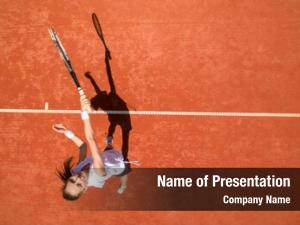 Female top view tennis player