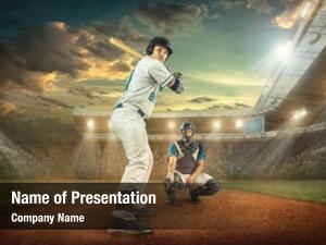 Dynamic baseball players action action