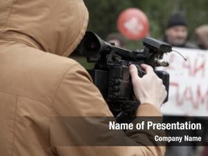Video cameraman digital camera, press