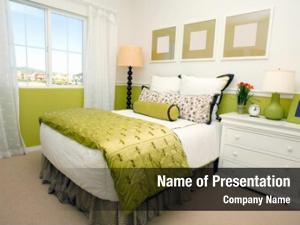 Shades modern bedroom green