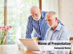Using two seniors laptop computer