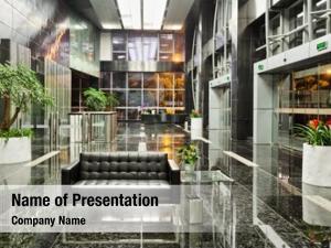 Building modern office lobby