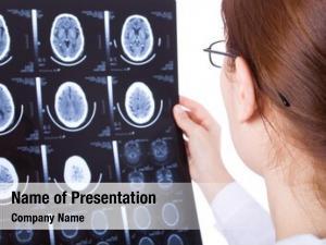 Examining female doctor brain cat