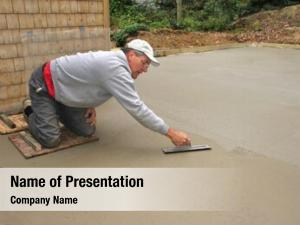 Concrete man finishing slab