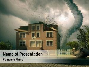 House tornado over (3d