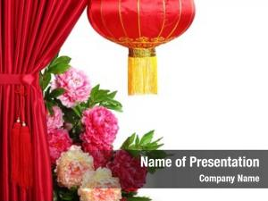Year chinese new decoration  red satin