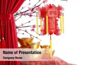 Year chinese new ornaments  red satin
