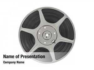 Movie vintage film reel clipping