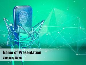 Cold professional microphone green technological
