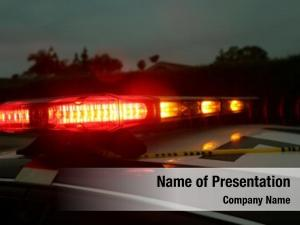Light police car bar